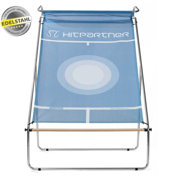 Tennisballwand HitPartner blau Pro Version Edelstahl